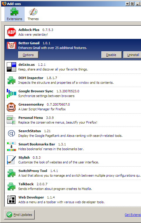 My Firefox Extensions 2